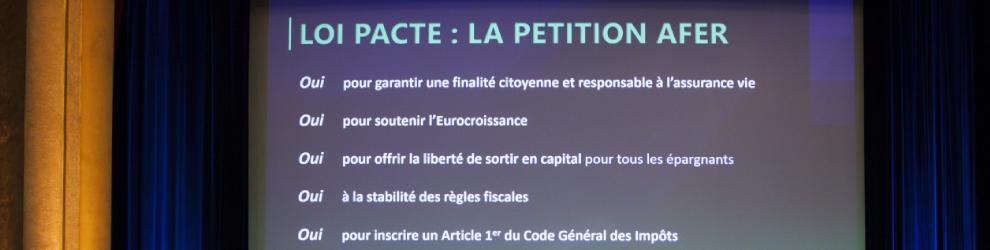 Loi pacte : la petition AFER